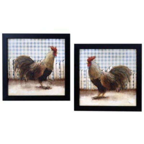 Rooster Print Set CVA3730 Set of 2