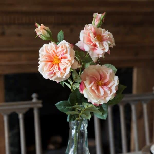 Gathered Garden Roses Peach HY1231P