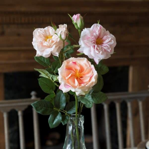 Gathered Garden Roses Pink HY1231PK