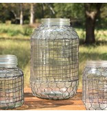 Park Hill Primitive Wire Covered Extra Large Dill Pickle Jar DS3601