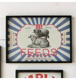 Park Hill Framed Feedsack Sheep Feed IM6533