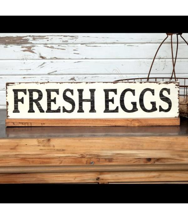 Park Hill Fresh Eggs Wooden Sign