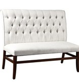 Coast to Coast Dining Bench 30411 Pale Fabric Brentwood Brown