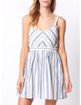 Striped V-Neck Dress 30351