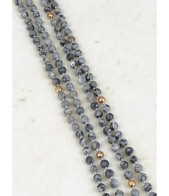 Beaded Wrap Necklace 375