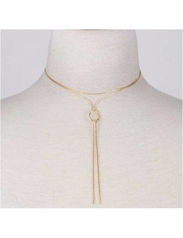 Knot Layered Necklace 0323