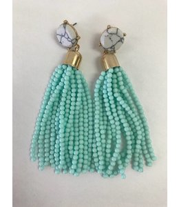 Dillworth Road Marble Tassel Earring 1140