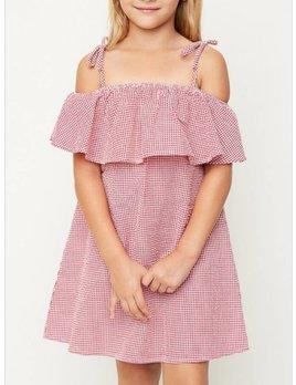 Gingham Off the Shoulder Dress 2043