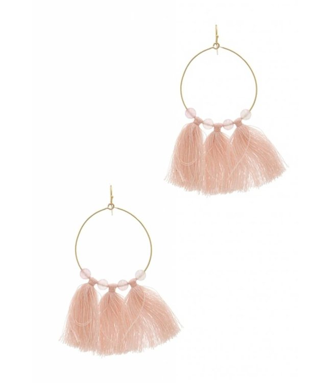 Tassel Hoop Earrings 0092