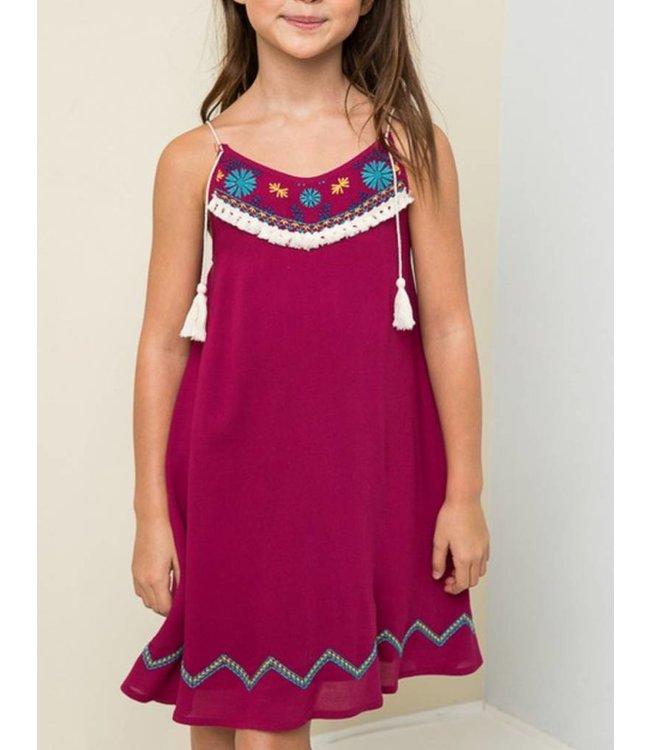 Tassel Embroidered Dress 3096