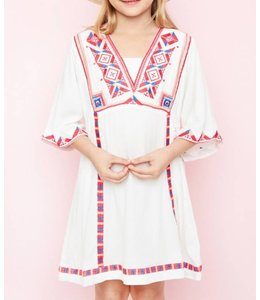 Embroidered Dress 5124