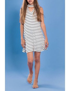 Stripe Keyhole Dress 4267