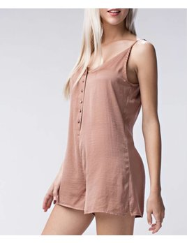 Silky Button Up Romper 1053