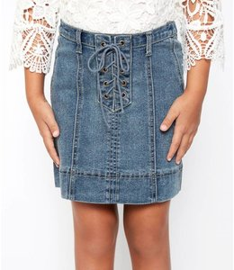 Hayden Los Angeles Lace Up Skirt