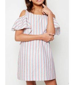 Stripe Ruffled Dress 3563