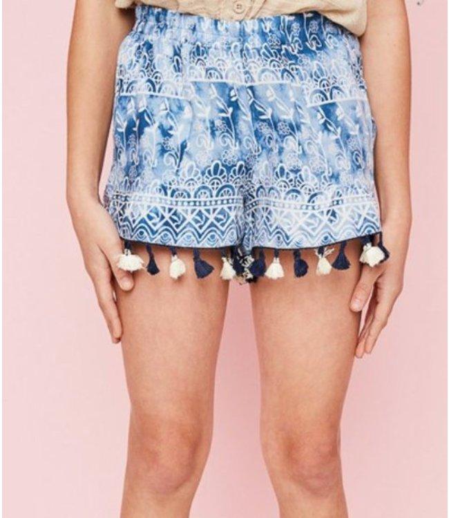 Fringe Printed Shorts 2125