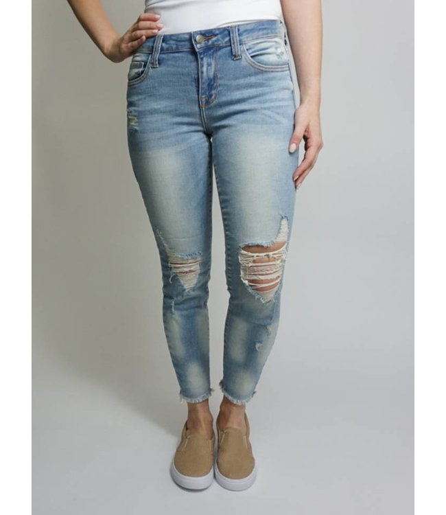 Ultra Distressed Fray Jeans 1528