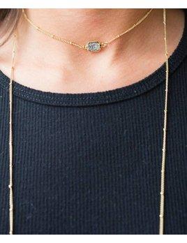 Druzzy Wrap Necklace 8947