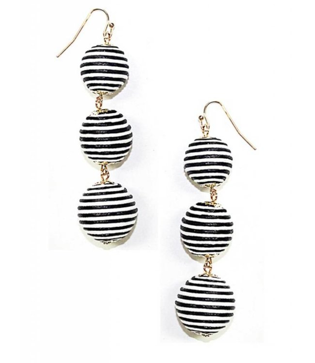 Triple Threaded Beehive Earring 112