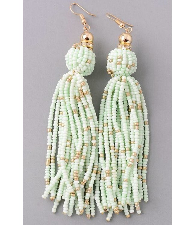 Fame Multi-Beaded Tassel Earrings 25020