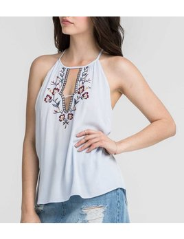 Embroidered Tie Top 12985