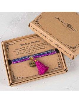 Natural Life Blessings Bracelet 168 - Gold Cross