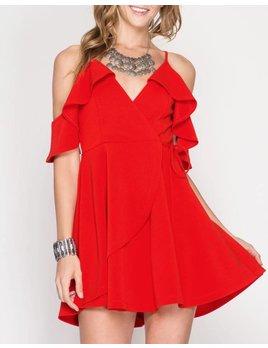 Ruffle Wrap Dress 49639