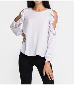 Lush Long Sleeve Ruffle Top 12880