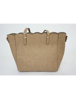 Scallop Handbag 1315 - Taupe
