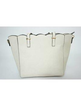 Scallop Handbag 1315 - Beige