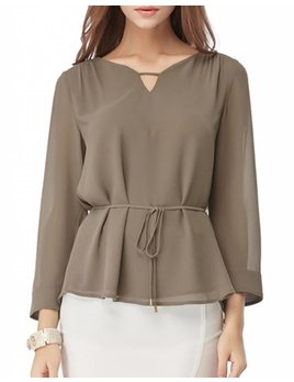 Pleated Back Tie Top 100302