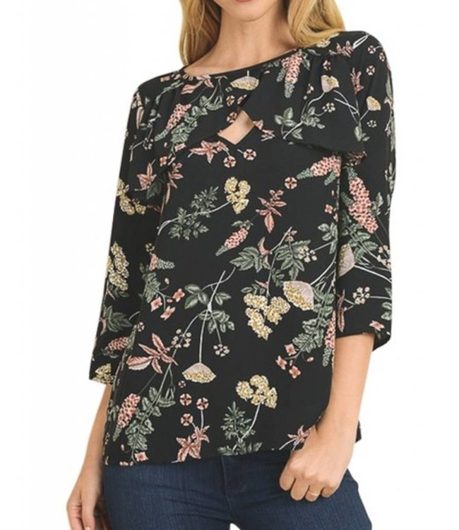 Floral Ruffle Top 7597