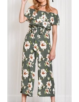 Blue Blush Floral Jumpsuit 1294