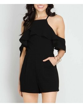 Cold Shoulder Romper 4655