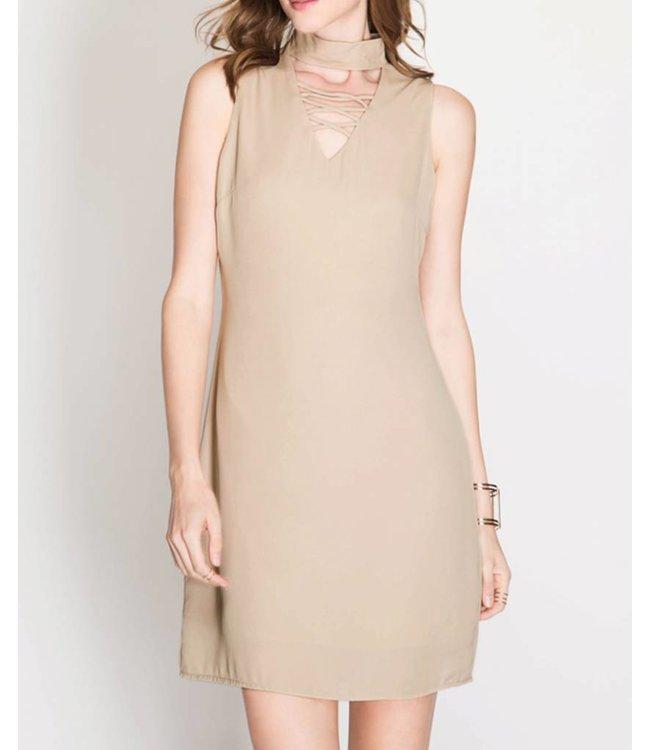 Criss Cross Choker Dress 4334