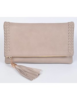 Braided Clutch 5410 - Taupe