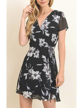 Le Lis Floral Wrap Dress 10999