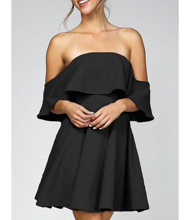 Ruffled Off the Shoulder Dress 5002