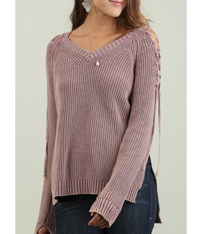 High Low Mineral Washed Sweater 3390