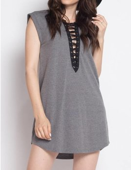Iris Lace Up Tunic Dress 2829