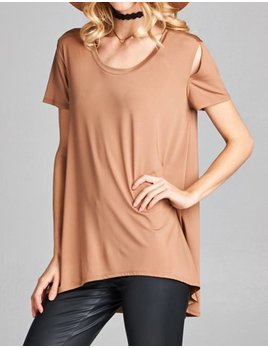 Shoulder Slit Tee 350