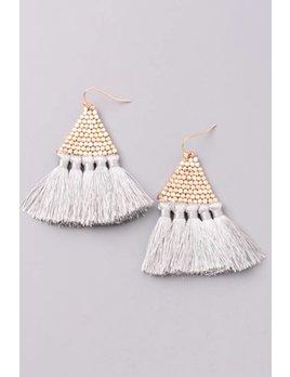 Pyramid Tassel Earring 6008