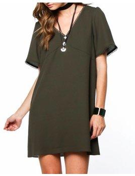 Lace Back Dress 7702