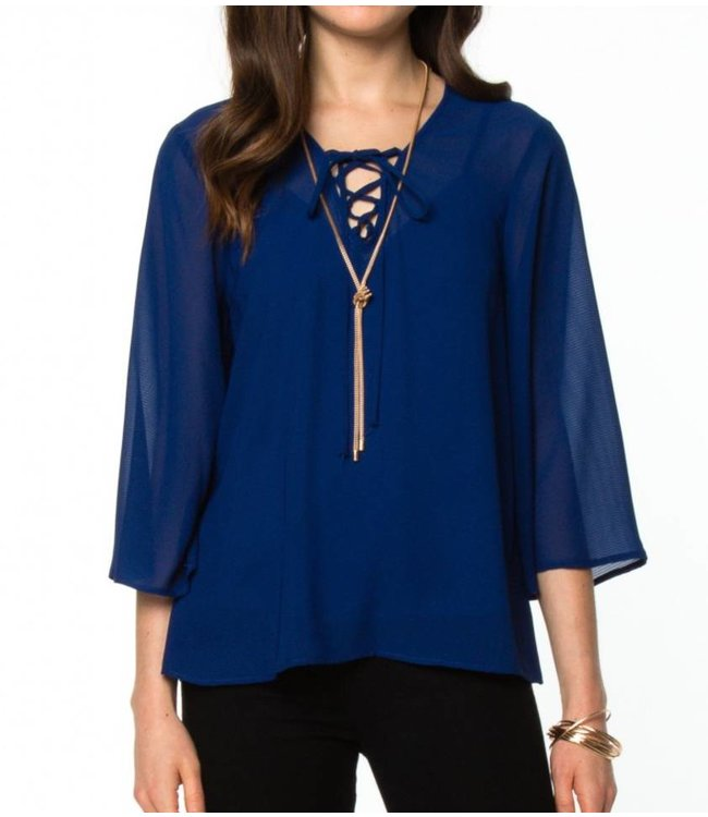 Front Lace Top 10933
