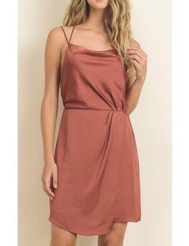 Le Lis Drape Silk Dress 11018