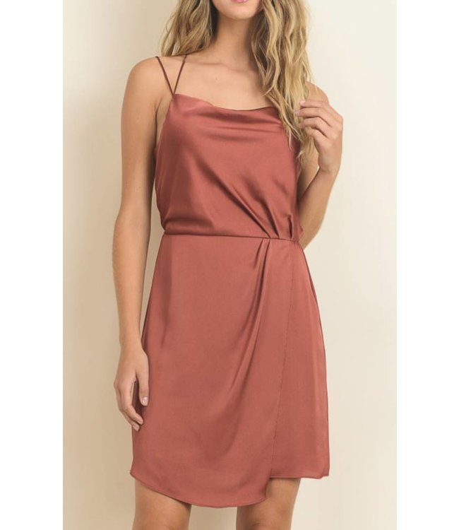 Drape Silk Dress 11018