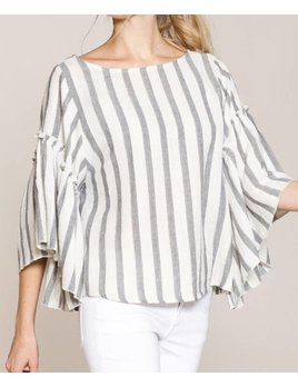 Striped Linen Top 192