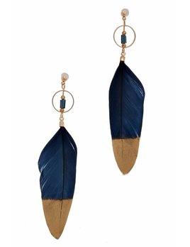 Dipped Feather Earring 5959