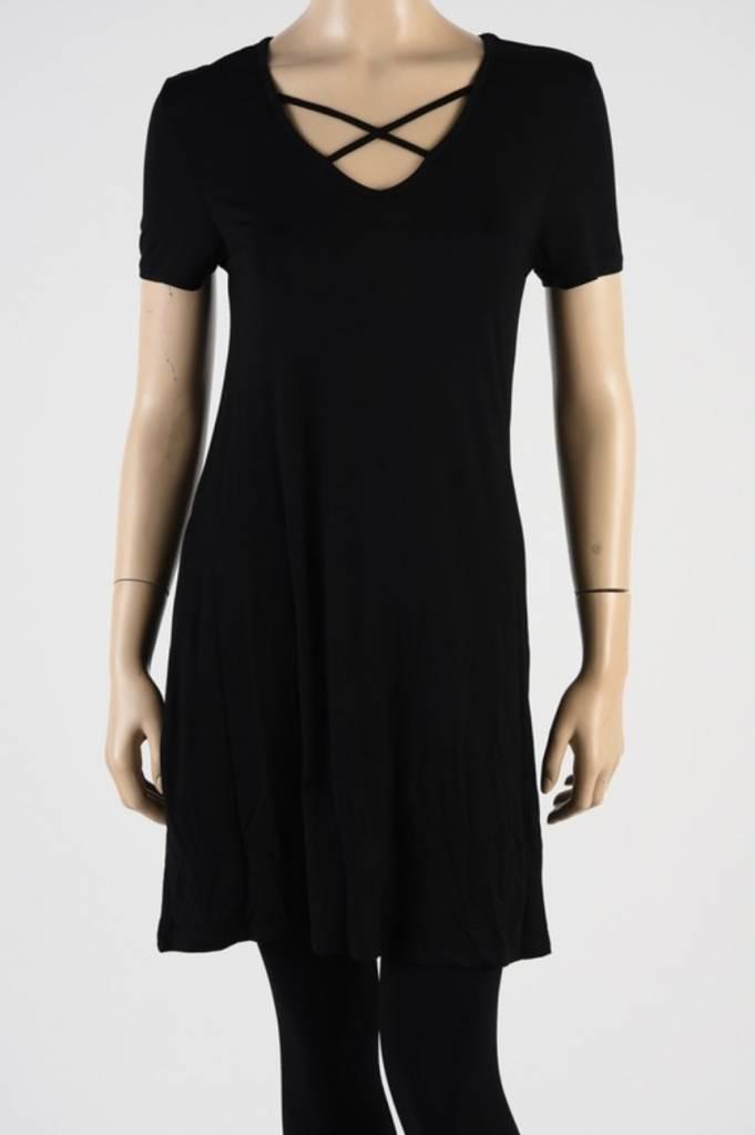 Criss Cross Piko Dress 1801