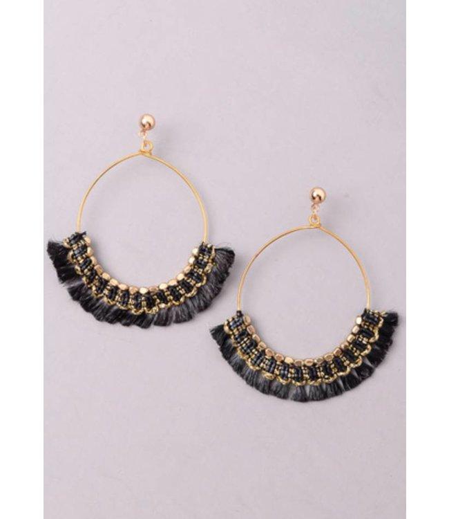 Hoop Tassel Earrings 1014